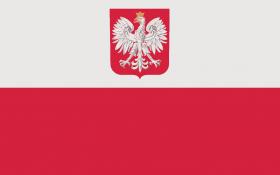 flaga z godlem rzeczypospolitej polskiej